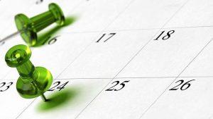 Almanaque representando fecha límite reclamación negligencia sanitaria